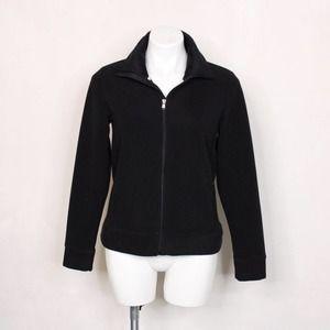 Ralph Lauren Black Zip Up Fleece Jacket